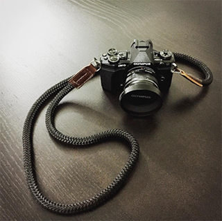 Olympus ep5 with a handcrafted camera strap