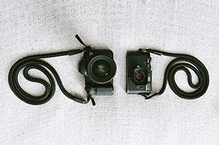 Canon 6D and Lica M6 with handmade cord camera straps,