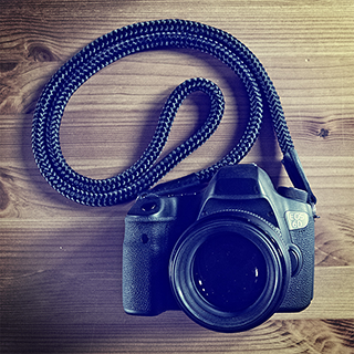 canon 6d equipped with a hand crafted camera strap from sailor strap
