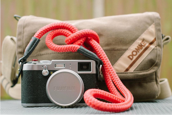 x1oot by fujifilm with sailor strap's el capitan neck strap