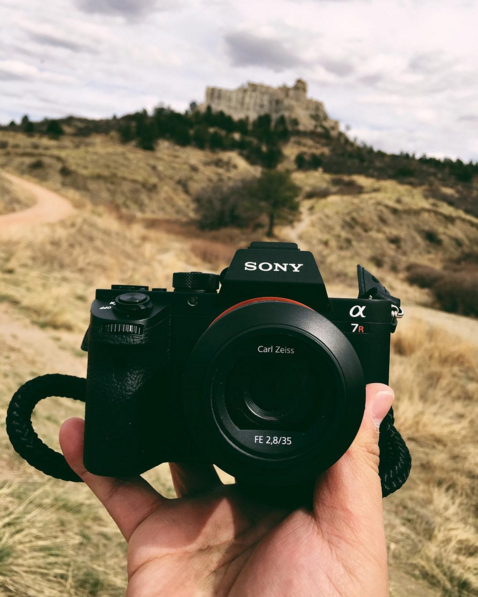Sony a7R with el capitan camera strap