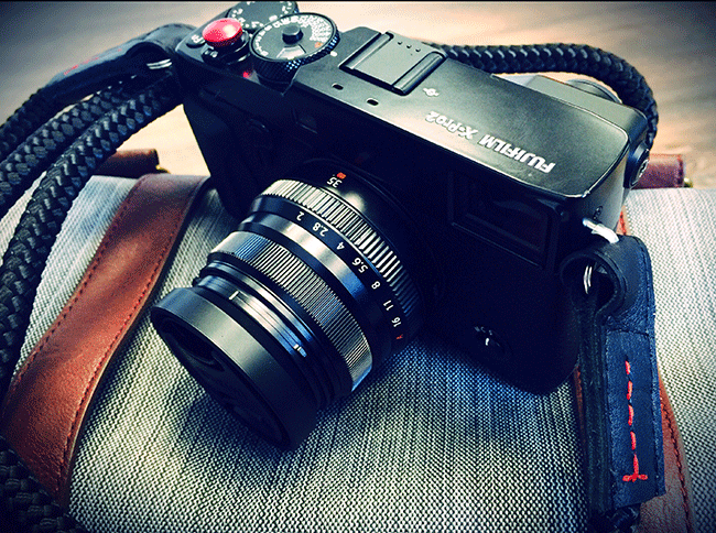 x-pro2 from fujifilm with handmade cord camera strap by sailor strap