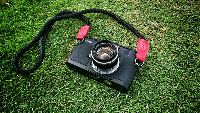 Bessa R2 camera with handmade LT.Krampus camera strap