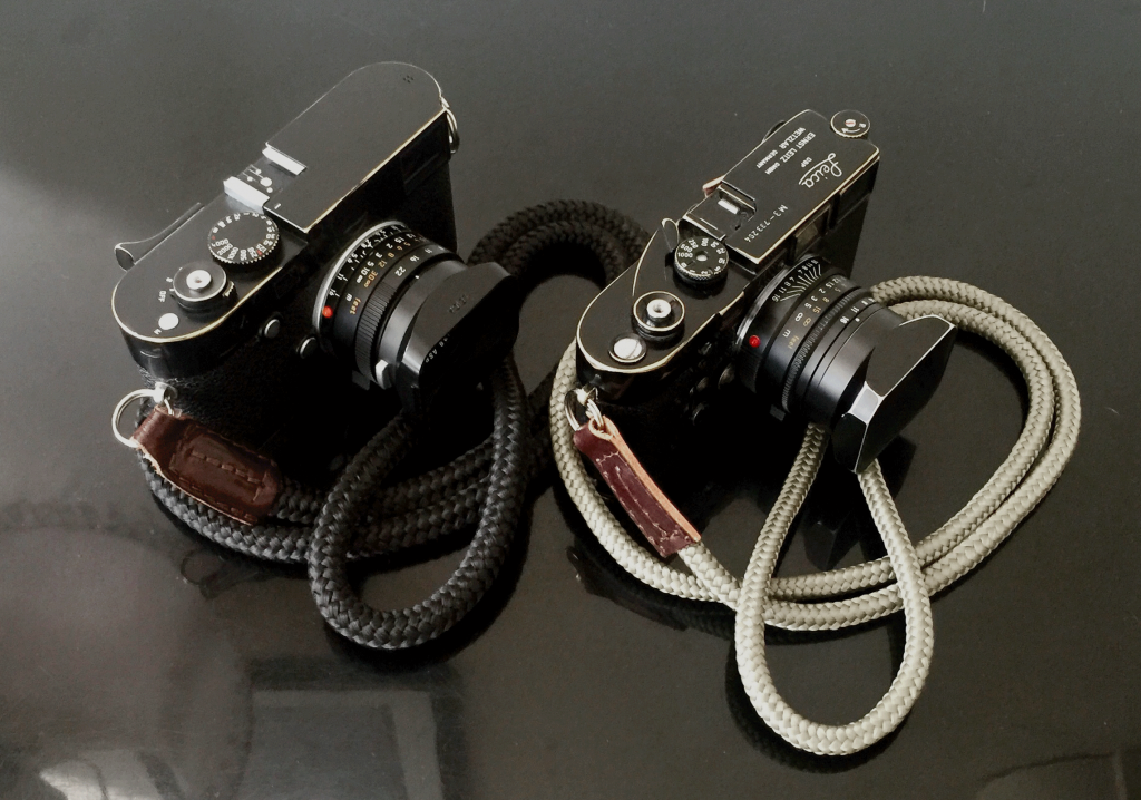 Leica M8 and M3 with sailor strap camera straps