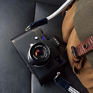 leica m with a handmade camera strap from sailor strap
