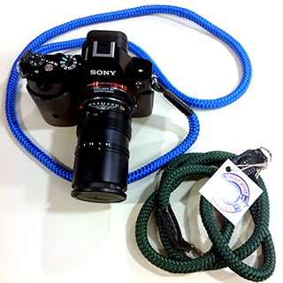 sony a7r with handmade cord camera strap
