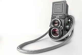 Rolleiflex 2.8 GX with sailor strap El Capitan strap