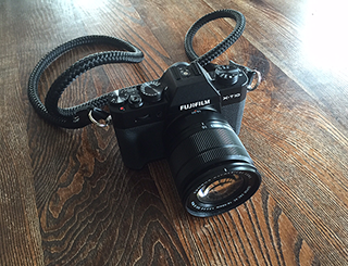 FUJIfilm X-T10 with handmade camera strap from sailor strap