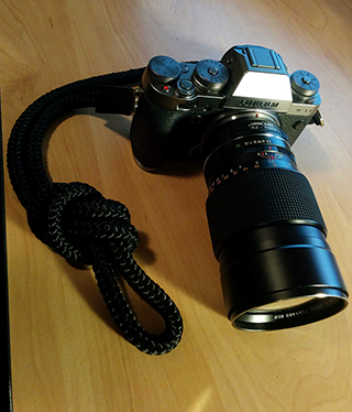 Fujifilm X-T1 graphite silver with sailor straps handmade camera strap,