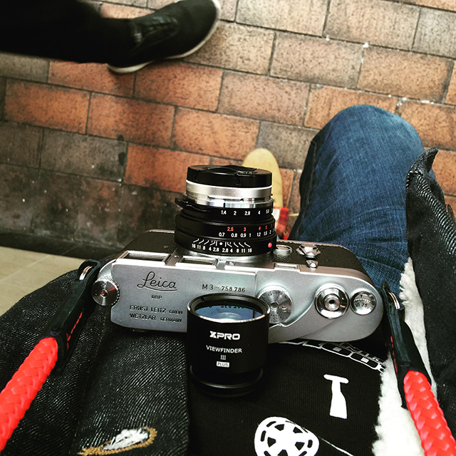 Leica M3 with a handmade cord camera strap, the el capitan