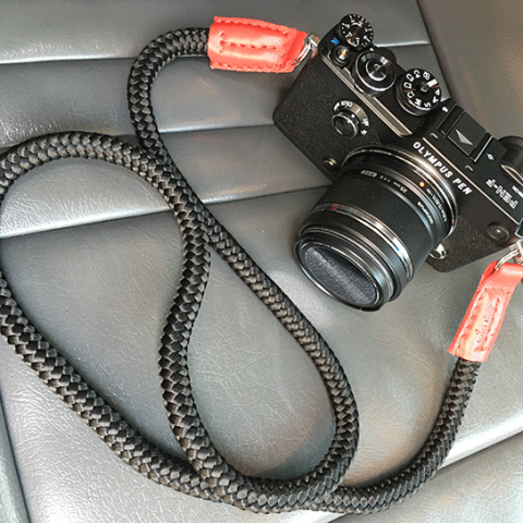 olympus pen-f with lieutenant krampus handmade camera strap
