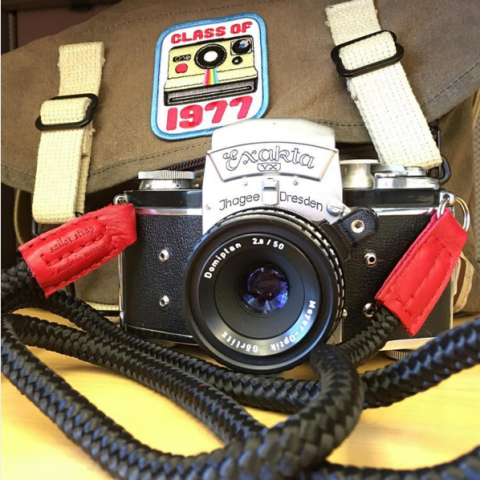 exakta VX with LT.Krampus handmade camera strap