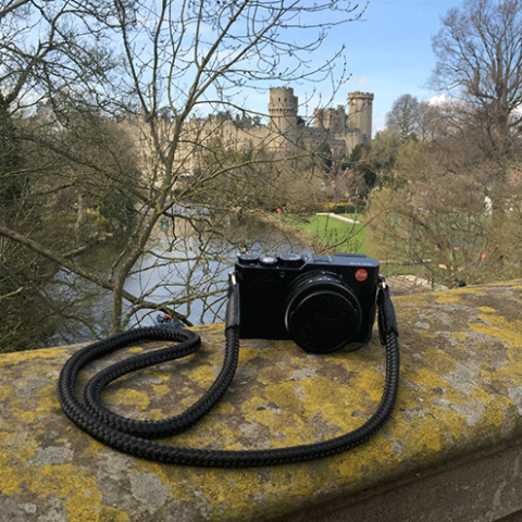 Leica x with LT.Black neck camera strap