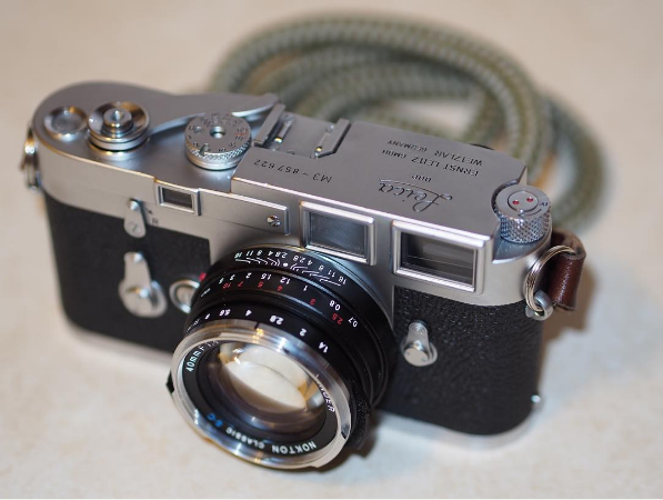 Leica M3 with the handmade Lt.Olive cord camera strap