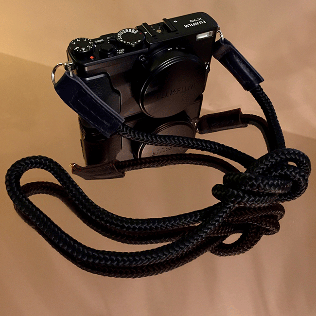 fujifilm x70 with skinny jimmy handmade camera strap