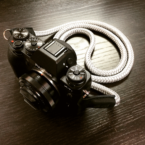 Fujifilm X-T1 with sailor strap lieutenant handmade camera strap