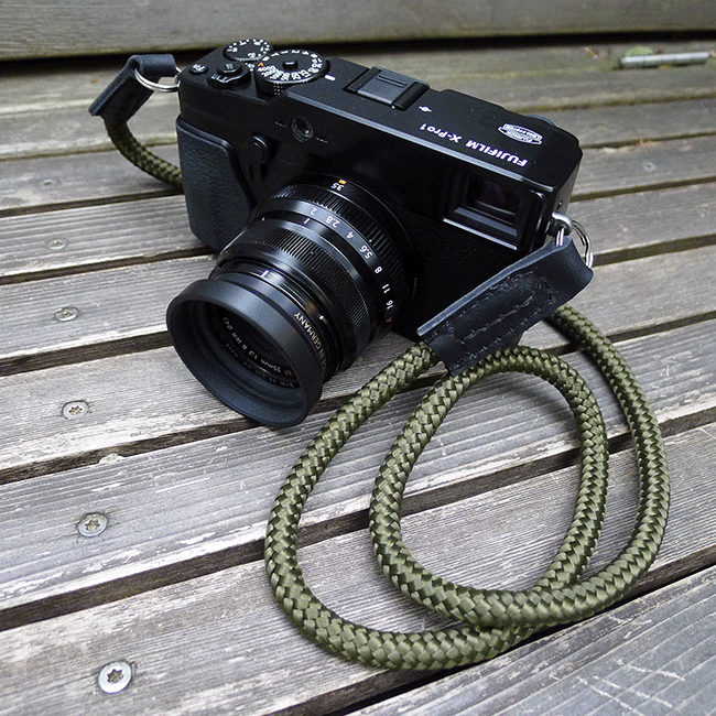 fujifilm xpro-1 with sailor strap handmade camera strap