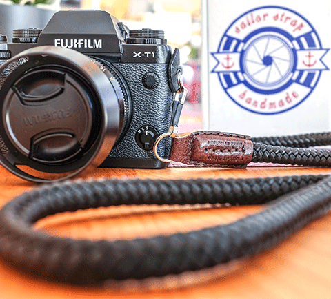 Fujifilm X-T1 with sailor strap crd camera strap