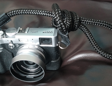 x100T with sailor strap handmade strap