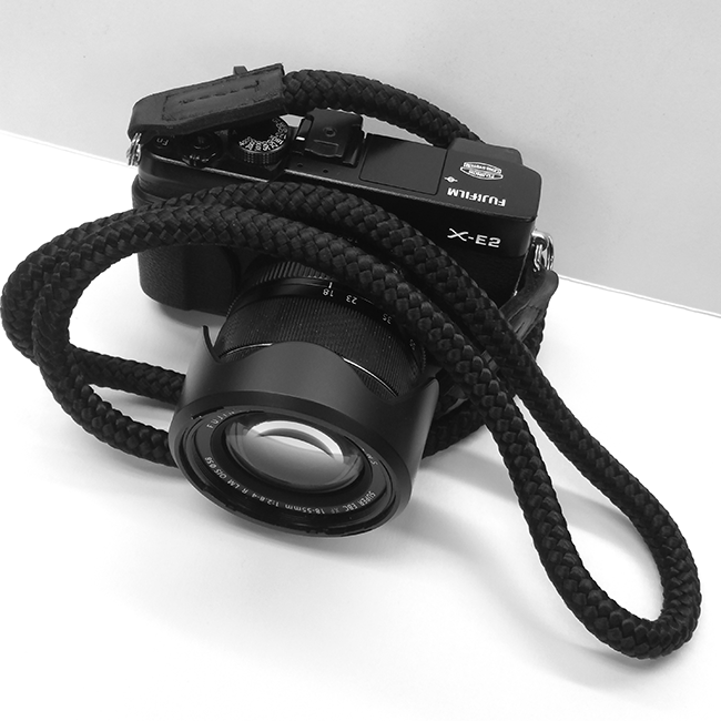 Fujifilm XE2 with hand crafted camera strap