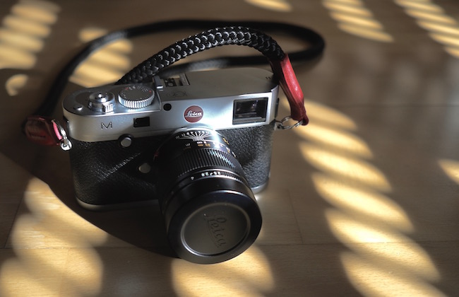 Leica M with a handmade cord camera strap