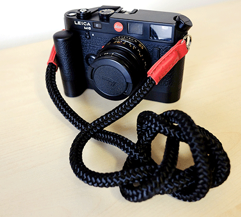 Leica M6 with handmade camera strap