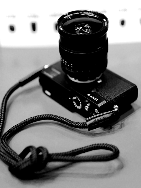 ZenitM camera with neck rope strap from Sailor Strap